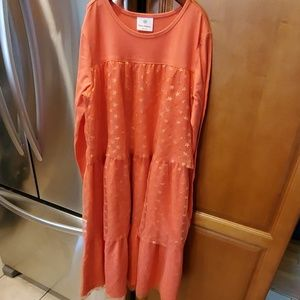 Hanna Andersson Star Layered Dress size 160/14-16